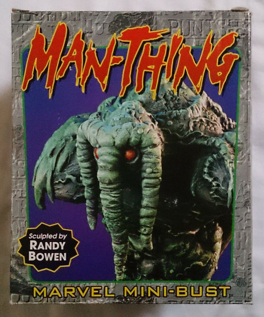 Marvel Comics Bowen rare Man-Thing mini bust statue with box VGC