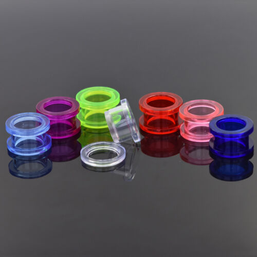 36mm Large Screw On Fit Acrylic Stretcher EaRring Tunnel Ear plug Expander 2mm
