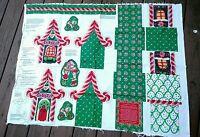 Vtg 1991 Cheryl Ann Johnson Toyshop Box Christmas Cotton Fabric Panel Usa
