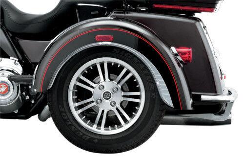 Kuryakyn Rear Chrome Fender Flares Skirts Trim Accents Harley Trike Tri-Glide