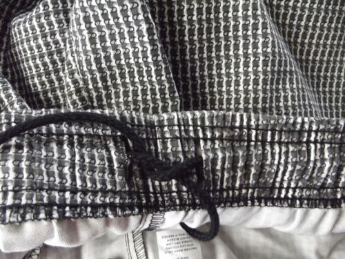 Womens DICKIES 12 14 or 18 BLACK WHITE GRAY PATTERNED CHEF PANTS work