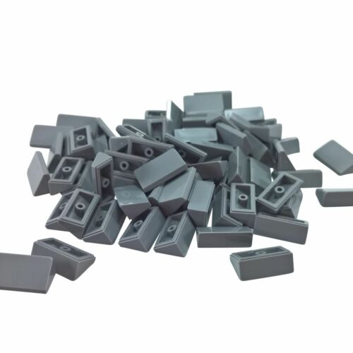 50 NEW LEGO Slope 30 1 x 2 x 2//3 bricks light bluish gray