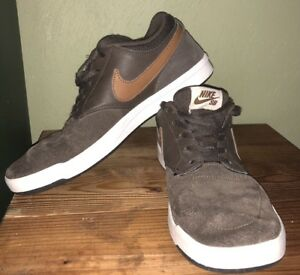 7fdaedcc2 Nike SB Classic Ale Brown Tan White Size 7.5 Mens Skate Shoes