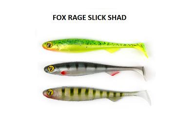 FOX Rage Slick Shad Gummifisch 7cm//9cm//11cm//13cm Alle Farben /& Ultra UV Farben