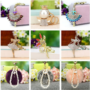 Crystal-Fairy-Angel-Pendant-Keyring-Car-Keychain-Bag-Charm-Gift-for-Women-Girls