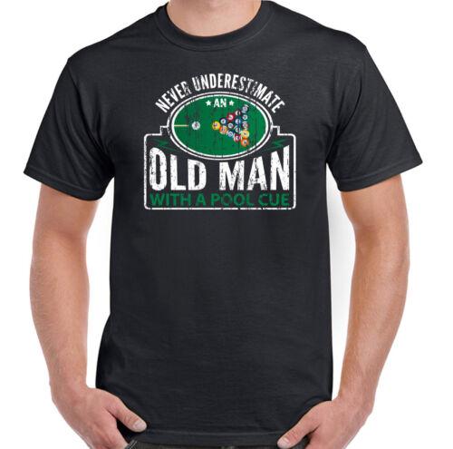 Camiseta De Piscina nunca subestimes un viejo con Mesa para hombre bolas de Cue Gracioso
