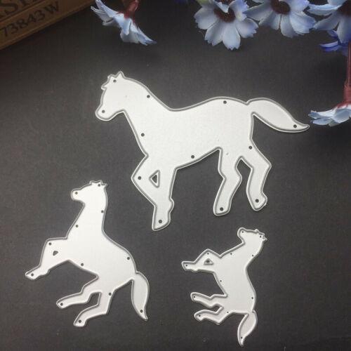 Stanzschablone Pferd Tier Familie Weihnachten Hochzeit Geburtstag Album Karte