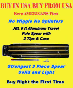 Pole-Spear-Travel-Deluxe-JBL-3pc-heavy-duty-aluminum-w-tips-No-Fiberglass-Gun