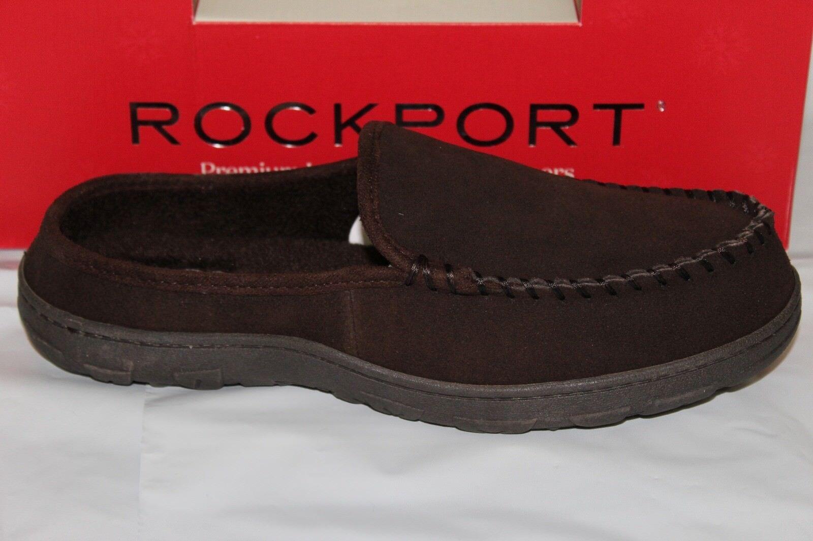 ROCKPORT MEN'S SUEDE INDOOR OUTDOOR CLOG SLIPPER, BROWN 71RQ670026