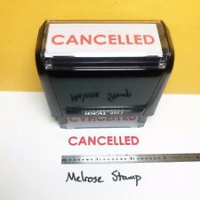 New Listingcancelled Rubber Stamp Red Ink Self Inking Ideal 4913