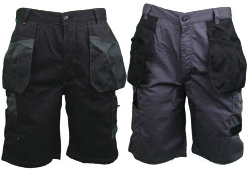 Himalayan - Mens Black or Grey - Multipocket Work Trade Cargo Shorts