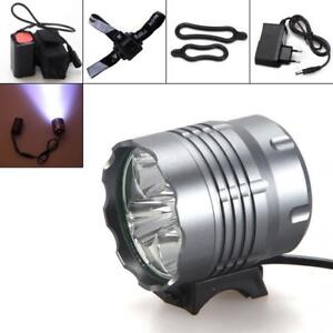 Waterproof 10000Lm 5x CREE XM-L T6 LED Bicycle Light Torch Headlamp + Battery