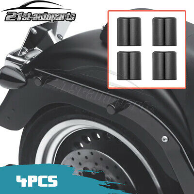 WeiSen 2 PCS Glossy Black Easy-Detachable Docking Hardware Point Magnet Covers CNC Aluminum Fit 1997-UP Harley Touring Street Electra Road Glide Road King & 2004-UP Harley Sportster XL 883 1200