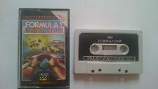JUEGO FORMULA 1 ONE SIMULATOR MSX PHILIPS PAL 199 RANGE.UK.MASTERTRONIC