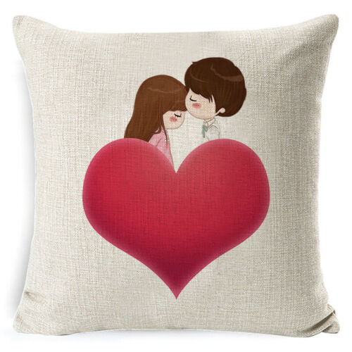 "18/"" Sweet Heart Sofa Pillow Case Birthday Party Wedding Decoration Cushion Cover"