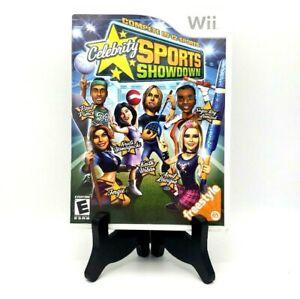 Celebrity Sports Showdown Nintendo Wii Complete Game Case Manual Near Mint