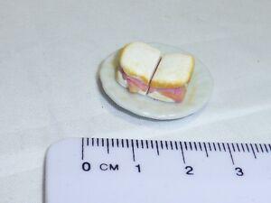 Échelle 1:12 Sandwiches Sur Plaque-afficher Le Titre D'origine