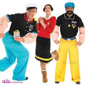 Mens womens adult popeye olive oyl brutus licensed fancy dress image is loading mens womens adult popeye olive oyl brutus licensed solutioingenieria Image collections