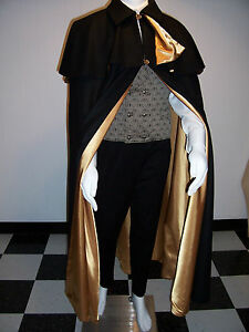 Cape MEN/'S FORMAL Wear Floor Length Black Opera Cloak 2 Capelets  M XXL Wine