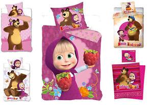 Masha And The Bear Kinder Bettwäsche 135x200 140x200 160x200 Masha