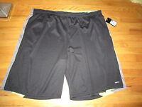 Mens Rpx Active Dri-tech Black W/gray/yellow Trim Basketball Shorts Size 4 X