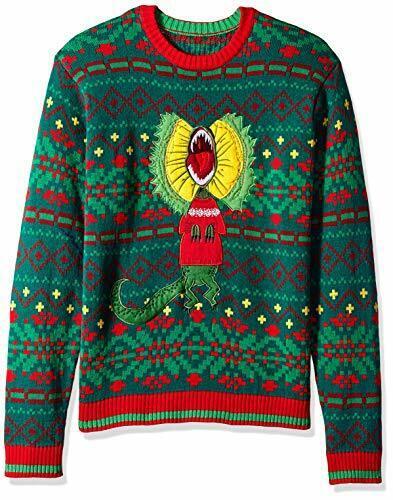 Blizzard Bay Men/'s Ugly Christmas Sweater Dinosaur Choose SZ//color