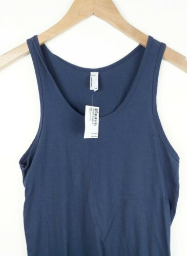 American Apparel Mens Teen Navy Fine Jersey Tank Top Size XXS S NEW Sleeveless