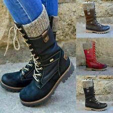 Damen Stiefeletten Boots Stiefel Booty Gefütterte Winterschuhe Schuhe Warmfutter