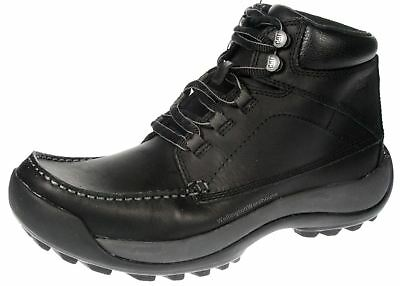 New Mens Caterpillar Navy Fontana Leather Shoes Lace Up