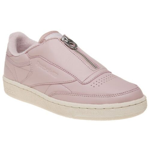 C Nude Reebok Leather Court 85 Womens Club Zip Pink New Trainers SXOpqc