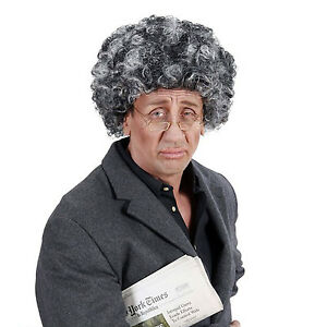 Adroit Personnes âgées Afro Gris Argent Perruque Gangsta Granny Professeur Oap Grand-père Robe Fantaisie-afficher Le Titre D'origine Utilisation Durable