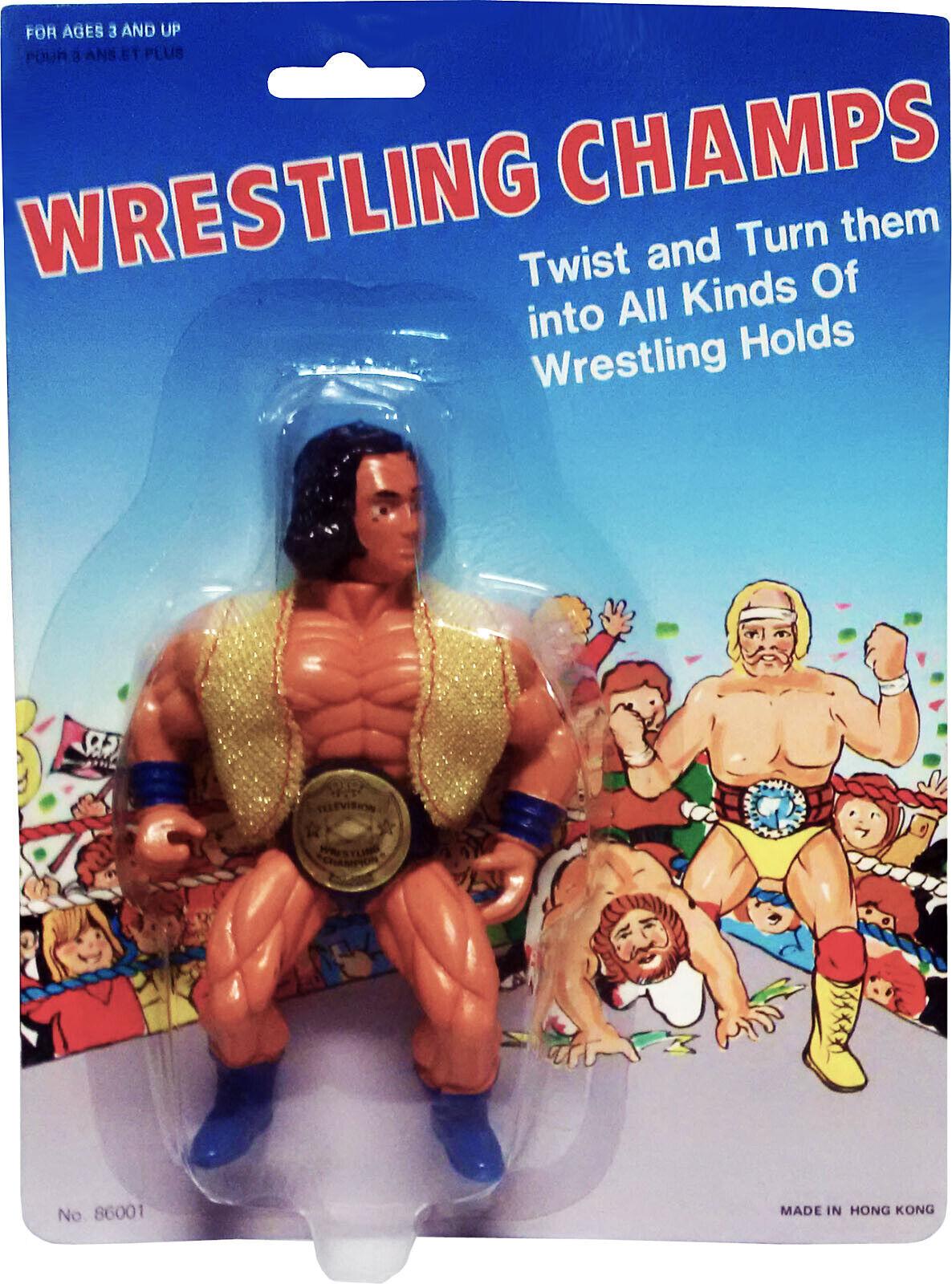 Wrestling champs - 1986-André le Géant figure-Comme neuf sur scellé Carte  Comme neuf sur scellé Carte