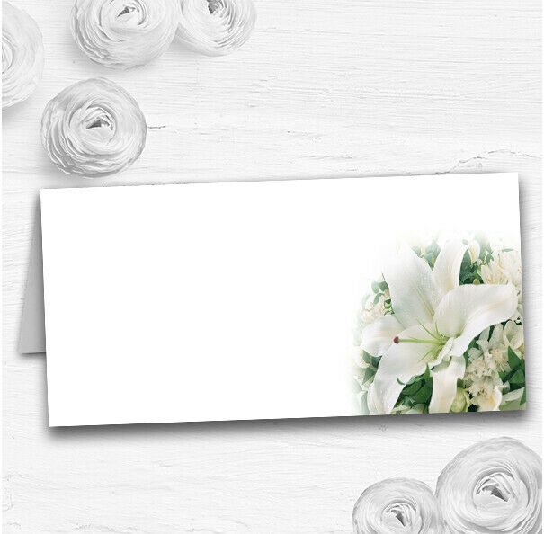 Classy Weiß Lily Pretty Wedding Table Seating Name Place Cards