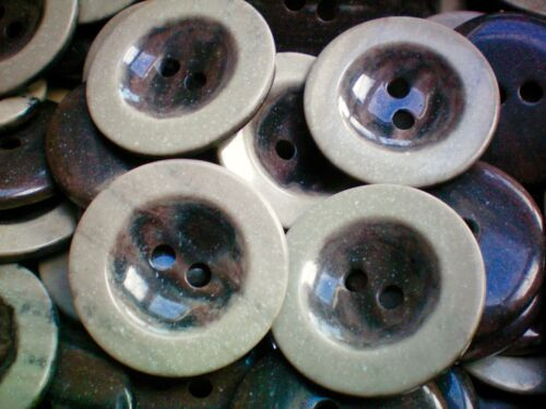 Grand 44mm brown /& light stone marron 2 trous manteau veste craft boutons W292