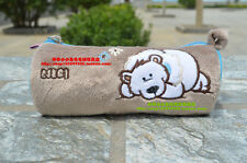 NICI Pencil Case, Cosmetic Bags, Brown Polar Bear Kids Gift with Free Shipping