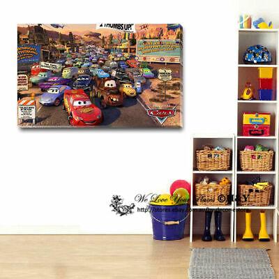 70x100x3cm Disney Pixar Cars Canvas Prints Wall Art Kids Nursery Decor FRAMED