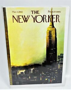 LOT OF 5 The New Yorker - Mar. 3, 1962 - By Arthur Getz - Greeting Card
