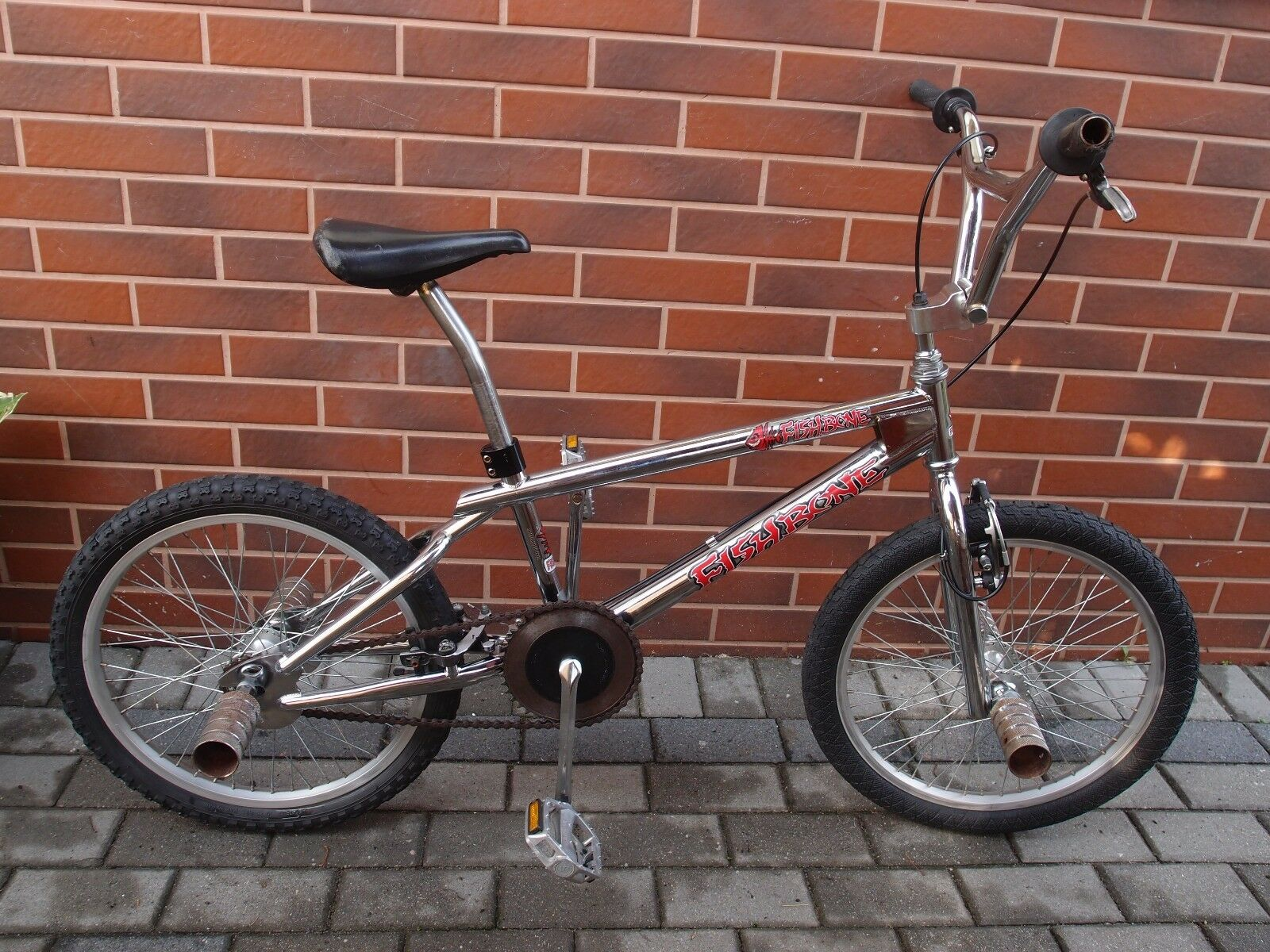 Mid School 1990s BMX Cr-Mo steel frame BMX chromed FISHBONE bike