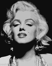 Framed Acrylic Paint by Number kit 50x40cm (20x16'') Marilyn Monroe DIY JC7367