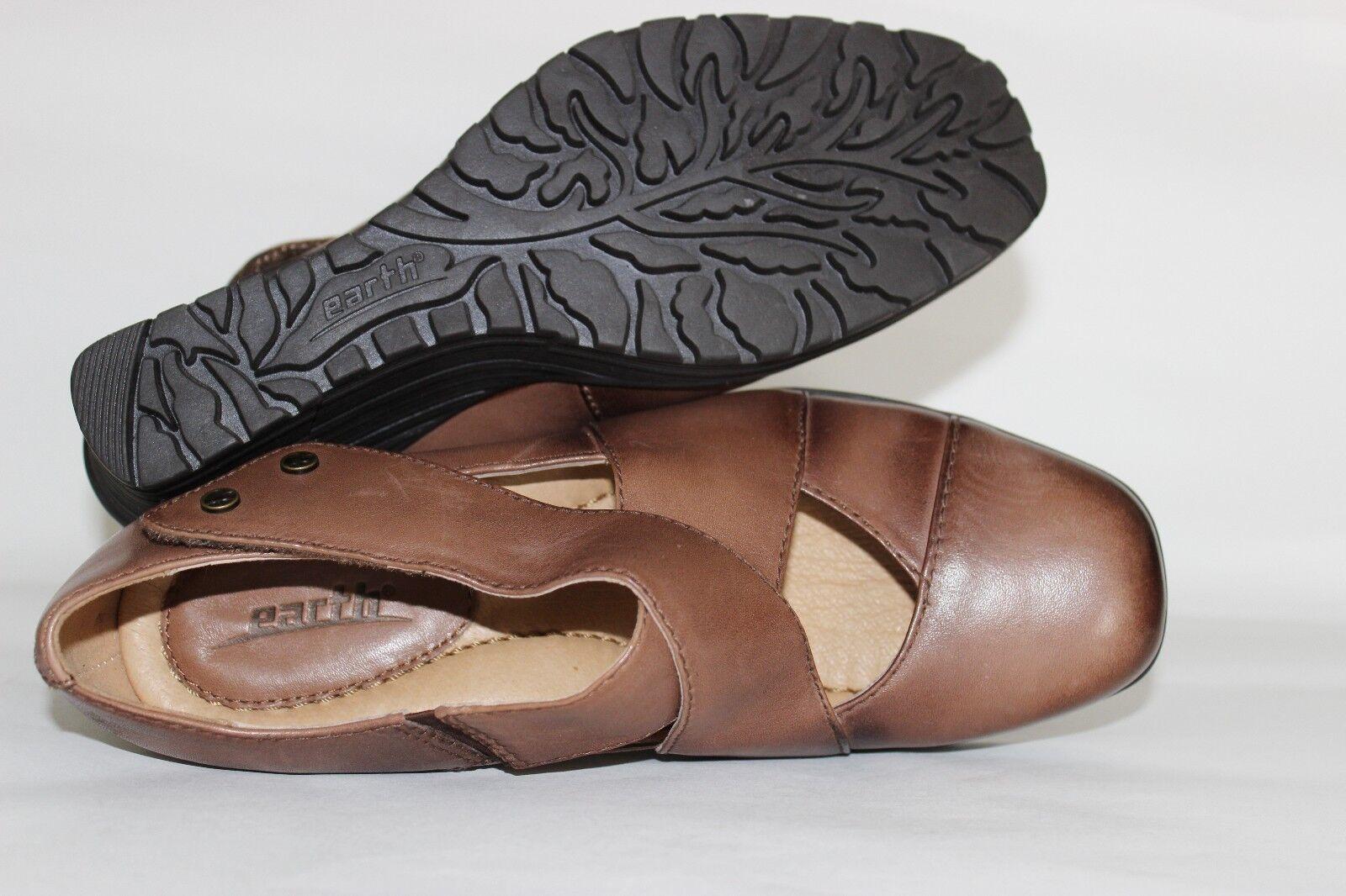 EARTH Spindrift Cinnamon Premium Premium Premium Leather 2.5  Wedge Mary Janes 6 B NEW L@@K 31 55e880
