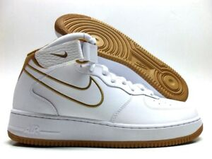 Details about NIKE AIR FORCE 1 MID '07 LEATHER WHITEMUTED BRONZE SIZE MEN'S 11 [AQ8650 101]