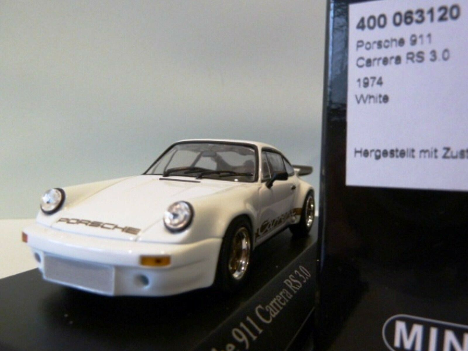 WOW EXTREMELY RARE Porsche 911 RSR 3.0 White gold 1974 1 43 Minichamps-GT2 R S T