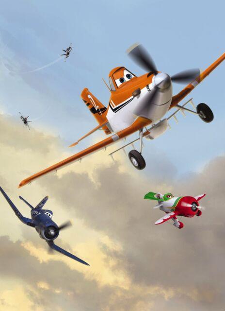 Kindertapete Fototapete PLANES 184x254, Disney lustige Flugzeuge, Flugzeugrennen