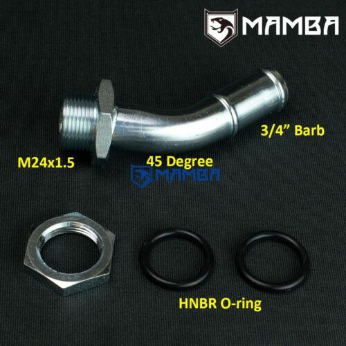 """DIY oil pan sump turbo oil return drain pipe adapter fitting 45Deg 3//4/"""" barb"""
