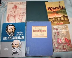 Lot-of-6-Living-History-Pictorial-History-Civil-War-Thomas-Jefferson-Washingto