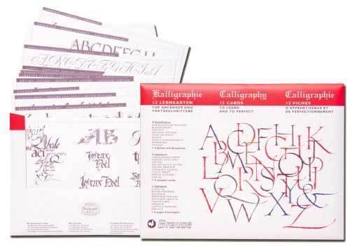 Kalligraphie Lernfibel Schritt für Schritt Anleitung Buchstaben Kalligrafie üben