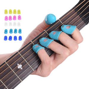 12pcs Silicone Finger Cot for Play the Guitar Protect Finger Prevent Press Pain
