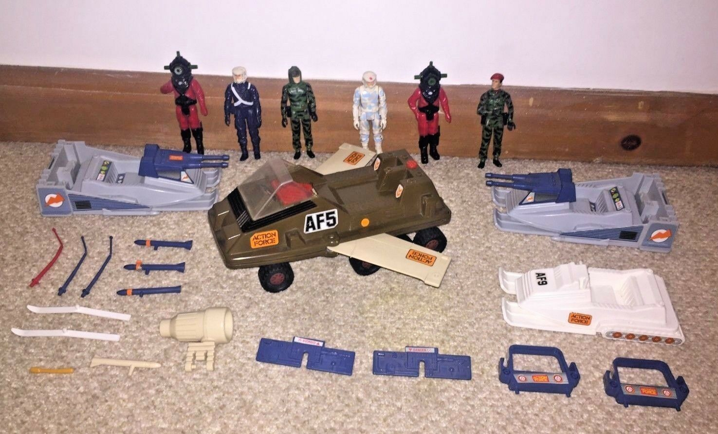 Vintage Action Force GI Joe Bundle Lot Of Figures + Vehicles - Original 1980's