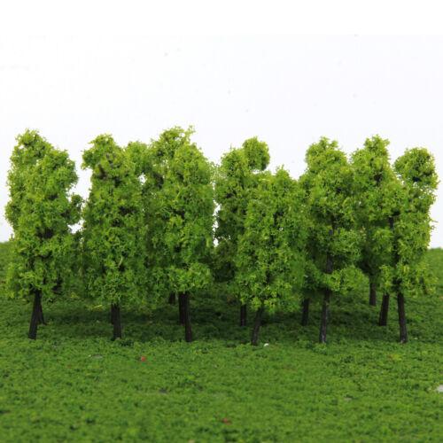 MagiDeal 40pcs Plastikmodell Bäume Spielzeug Zug Eisenbahn Park DIY