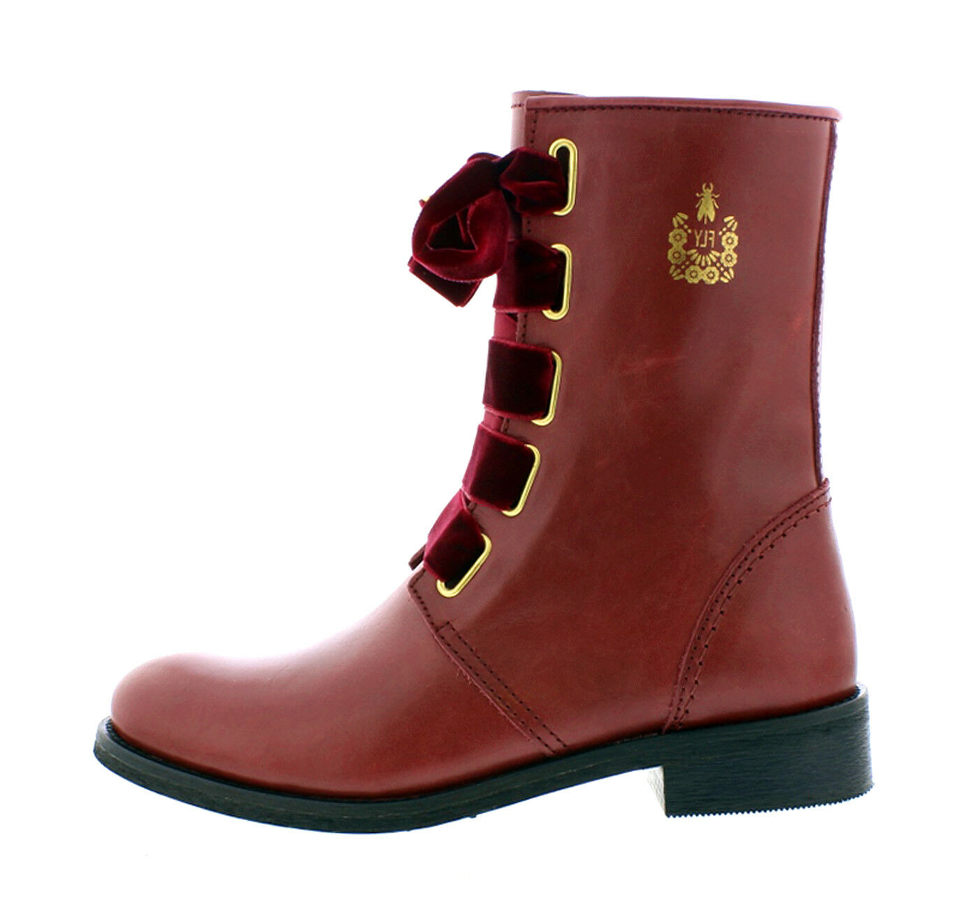 Fly London NEW Cristina Rodrigues Dwell 01 wine burgundy leather ankle boots 3-9